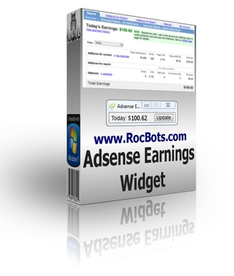 Product picture Adsense Earnings Widget - Todays Adsense Revenue Viewer